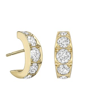 BESPOKE DIAMOND HOOP EARRINGS