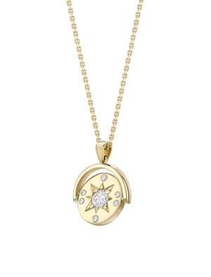 Spinning diamond star pendant