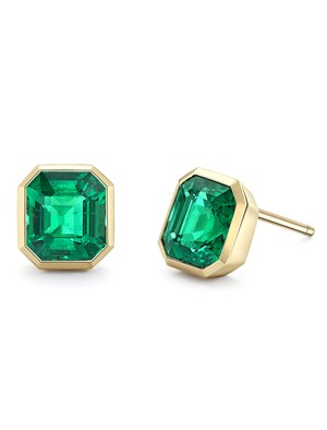 Bespoke emerald earrings