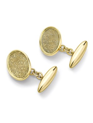 TORPEDO FINGERPRINT CUFFLINKS