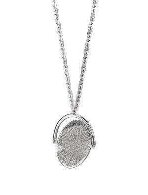 Spinning Fingerprint Pendant